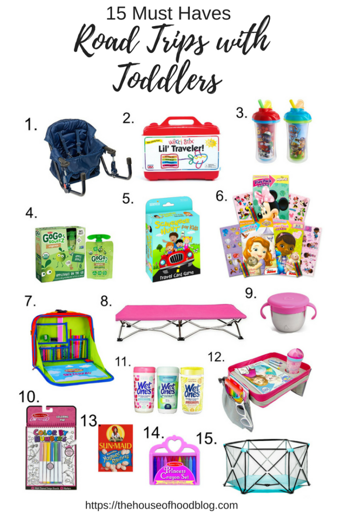 15 must have travel items for road trips with toddlers