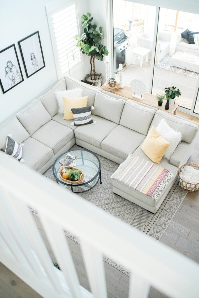 Our Two Story Living Room Neutral Living Room Decor Ideas
